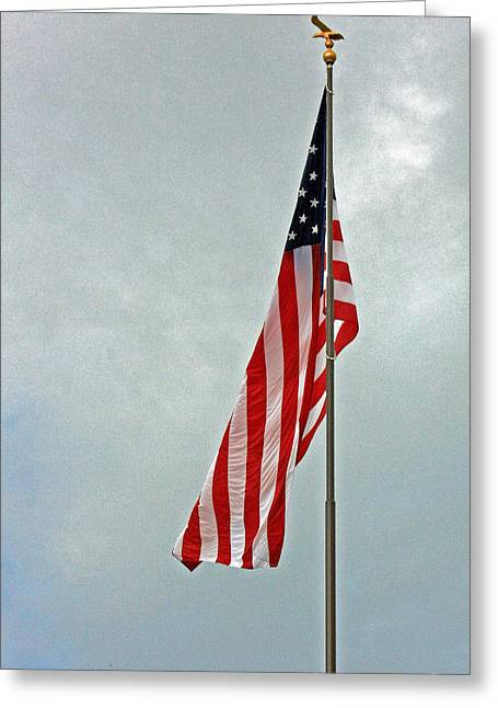 Proudly Waving Greeting Cards - American Freedom Greeting Card by Terri Mills