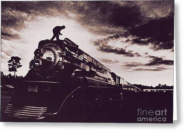 American Freedom Train Greeting Card by Jim Wright