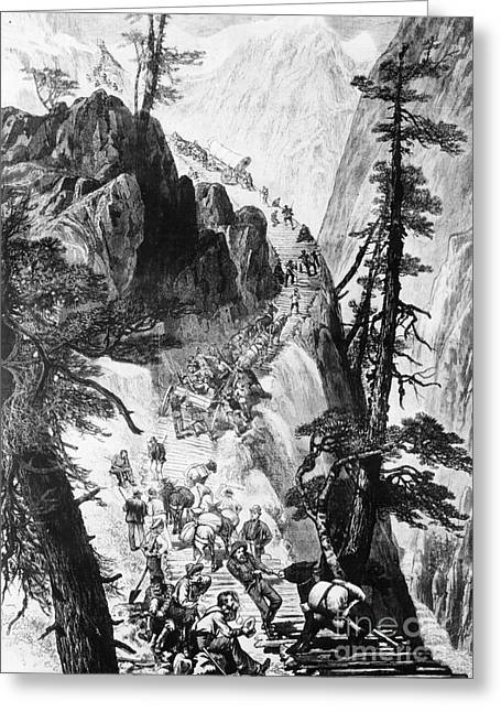 Corduroys Greeting Cards - American Gold Rush Greeting Card by Photo Researchers, Inc.