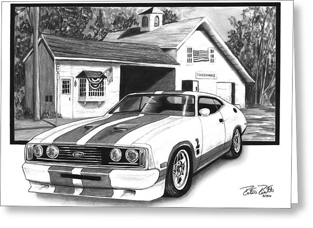 Charcoal Car Greeting Cards - American Heartland Greeting Card by Peter Piatt