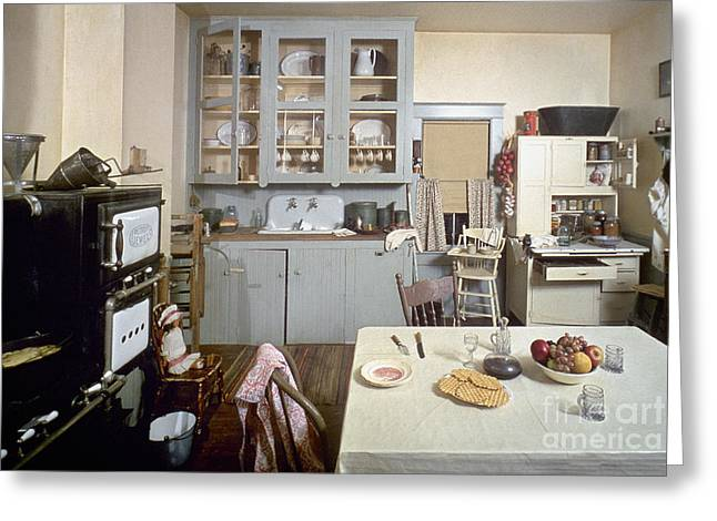 Early Sink Greeting Cards - American Kitchen Greeting Card by Granger