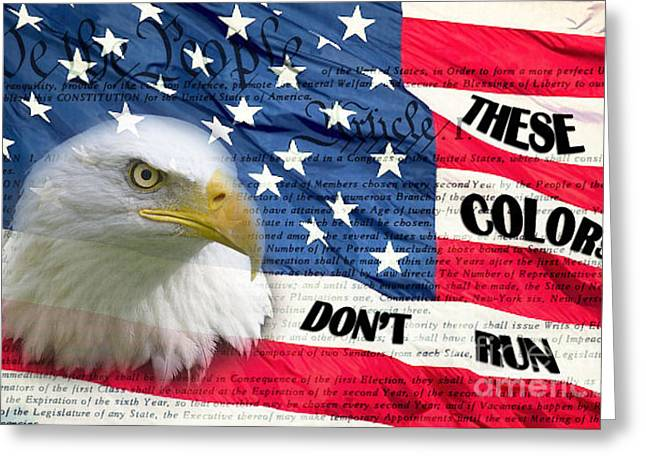 American Pride Greeting Card by Joanne Kocwin