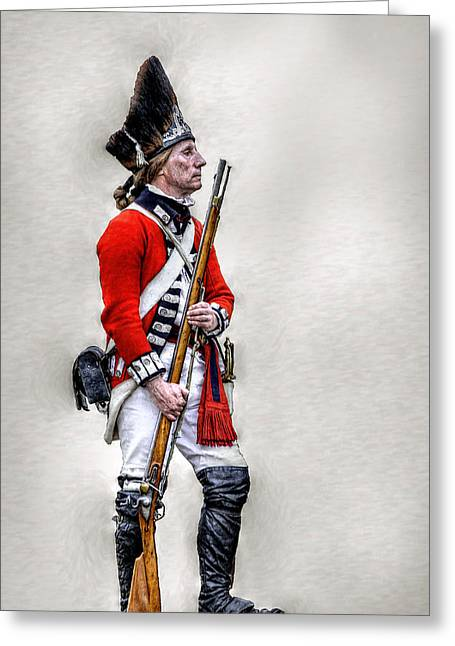 Redcoat Greeting Cards - American Revolution British Soldier  Greeting Card by Randy Steele
