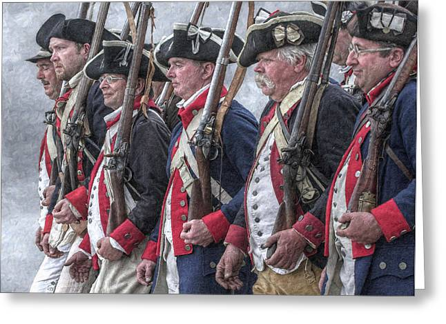 Militaria Greeting Cards - American Revolutionary War Soldiers Greeting Card by Randy Steele