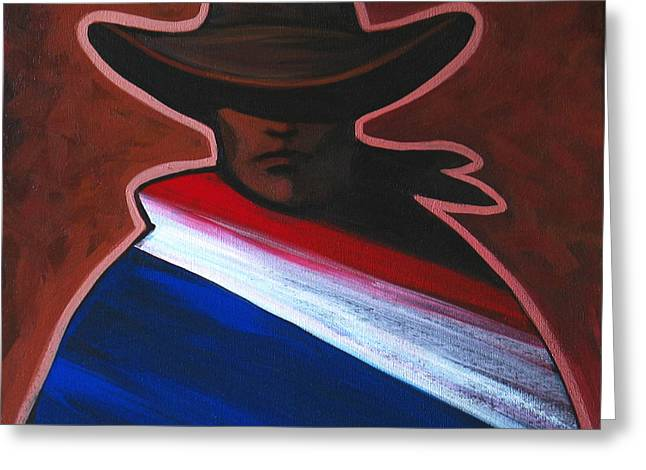 American Rider Greeting Card by Lance Headlee