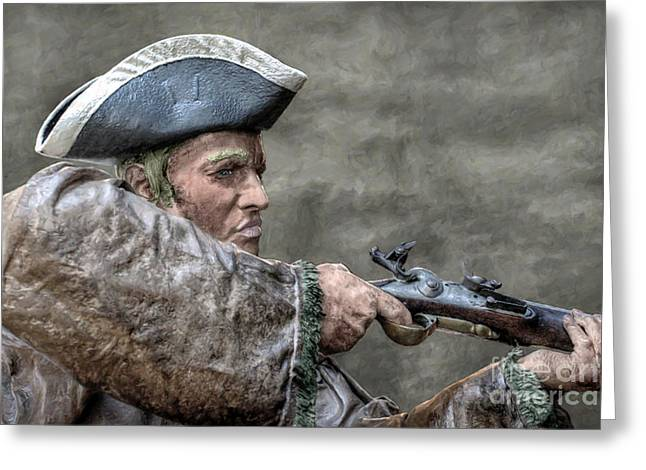 Frontiersman Greeting Cards - American Rifleman Fort Necessity Greeting Card by Randy Steele