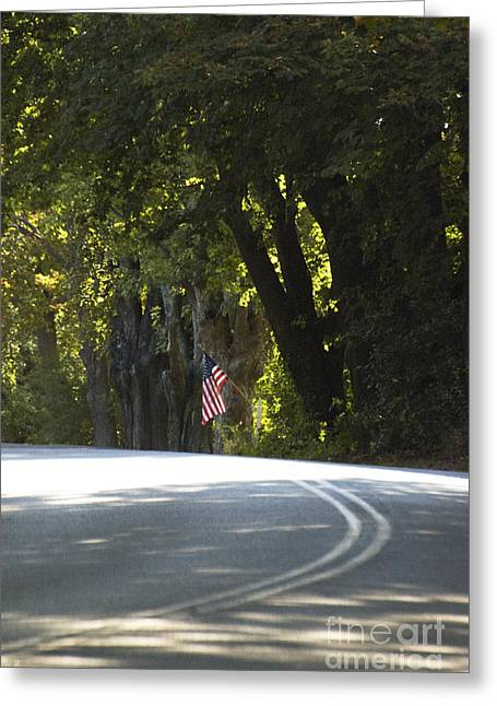 Old Country Roads Greeting Cards - American Road Greeting Card by AdSpice Studios