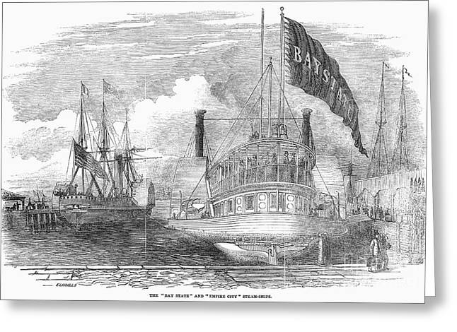 Steamboat Greeting Cards - American Steamboats, 1852 Greeting Card by Granger