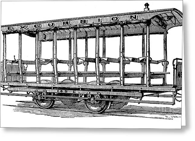 1880s Greeting Cards - AMERICAN: STREETCAR, 1880s Greeting Card by Granger