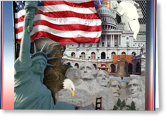 American Symbolicism Greeting Card by Gravityx Designs