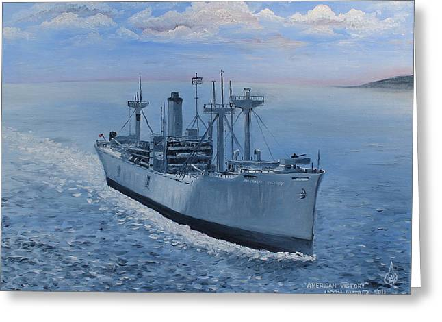American Victory Greeting Card by Larry Whitler