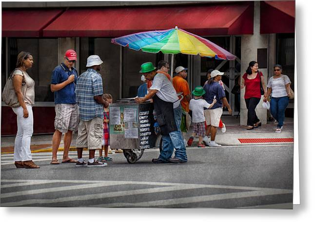 Customizable Greeting Cards - Americana - Mountainside NJ - Buying Ices  Greeting Card by Mike Savad