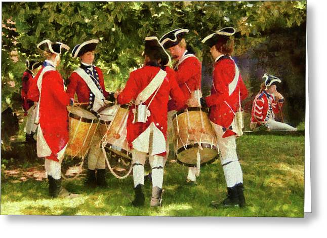 Present For You Greeting Cards - Americana - People - Preparing for battle Greeting Card by Mike Savad