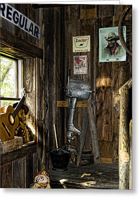 Old Cabins Greeting Cards - Americana 2 Greeting Card by Peter Chilelli