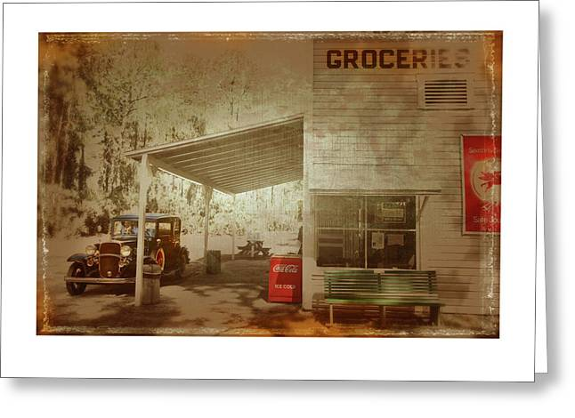 Grocery Store Greeting Cards - Americana  Greeting Card by Mal Bray