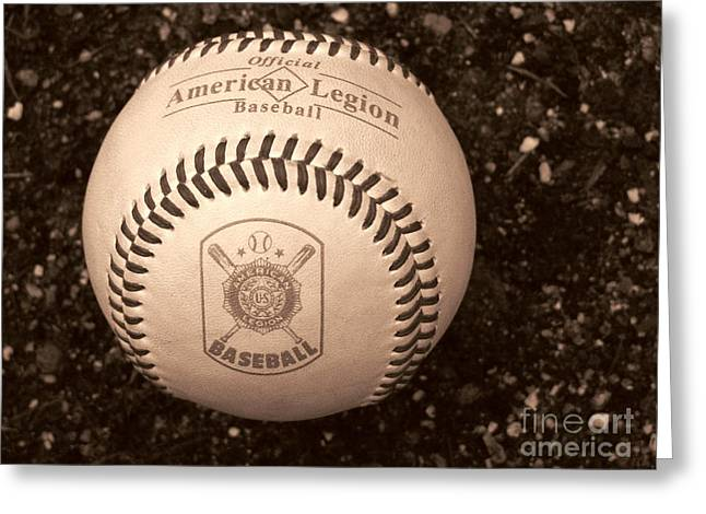 Baseball Art Photographs Greeting Cards - Americas Favorite  Greeting Card by Colleen Kammerer