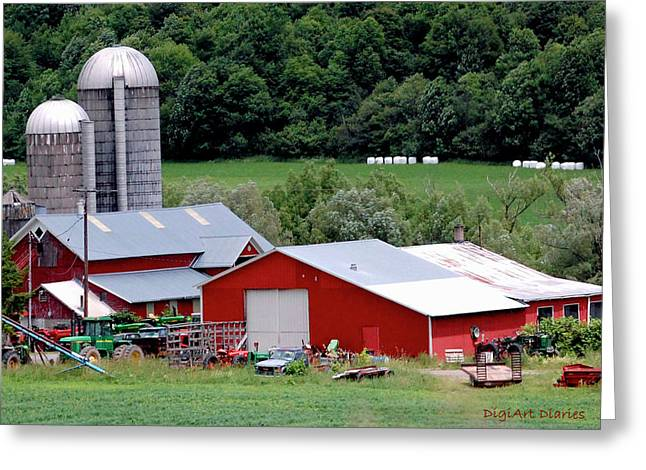 Barn Digital Art Greeting Cards - Americas Heartland Greeting Card by DigiArt Diaries by Vicky B Fuller