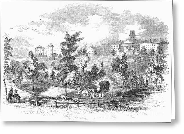 Amherst Greeting Cards - Amherst College, 1855 Greeting Card by Granger