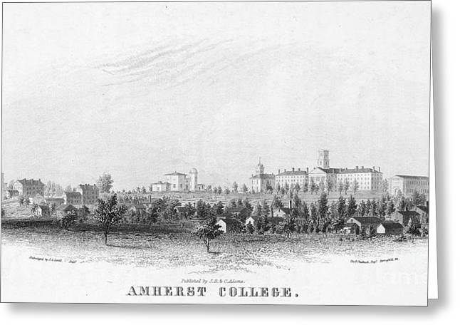 Amherst Greeting Cards - Amherst College, 1863 Greeting Card by Granger