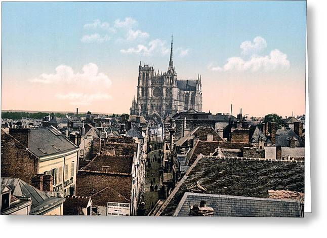 Amiens Greeting Cards - Amiens - France - View from the Belfrey Greeting Card by International  Images
