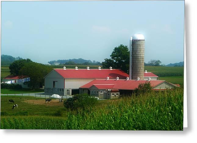 Amish Greeting Cards - Amish Country Farm Greeting Card by Lori Seaman