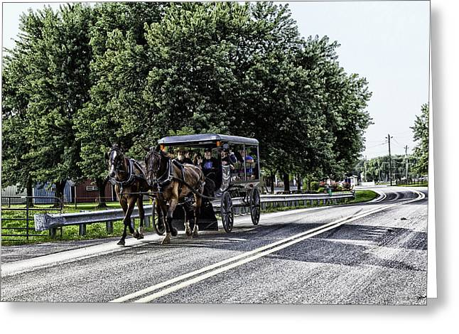 Horse Buggy Greeting Cards - Amish Country - Intercourse Pennsylvania Greeting Card by Madeline Ellis