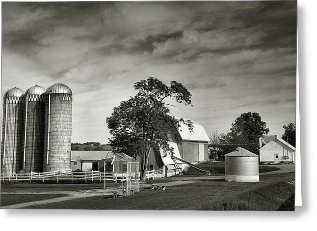 Farm Framed Prints Greeting Cards - Amish Farmstead II Greeting Card by Steven Ainsworth