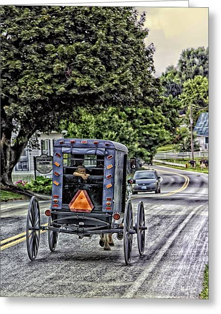 Old Country Roads Greeting Cards - Amish Girl Greeting Card by Madeline Ellis