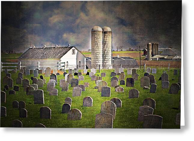 Amish Farm Greeting Cards - Amish Grave Yard Greeting Card by Kathy Jennings