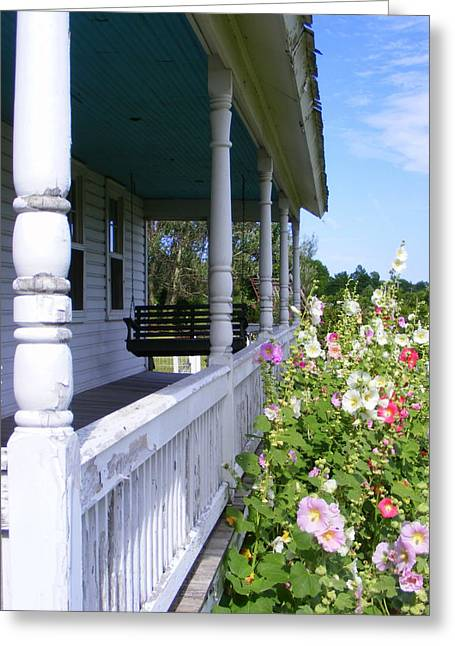 Amish Farms Greeting Cards - Amish Porch Greeting Card by Ed Smith