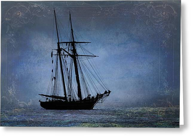Schooner Greeting Cards - Amistad Greeting Card by Fred LeBlanc