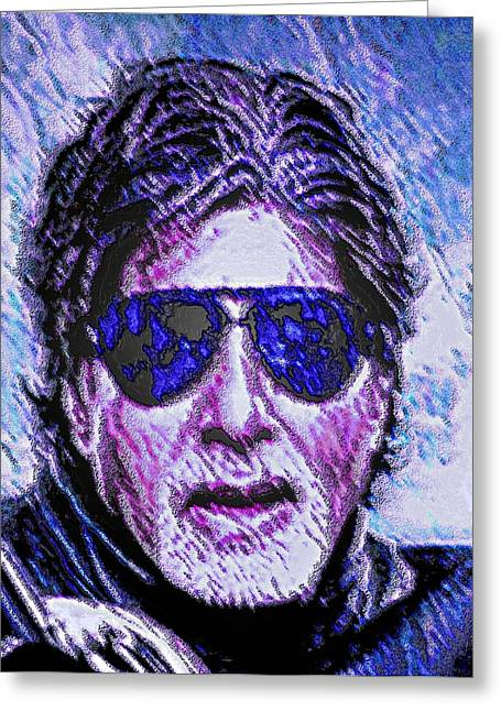 Greatest Of All Time Greeting Cards - Amitabh Bachchan - Hero of all Times Greeting Card by Piety Dsilva