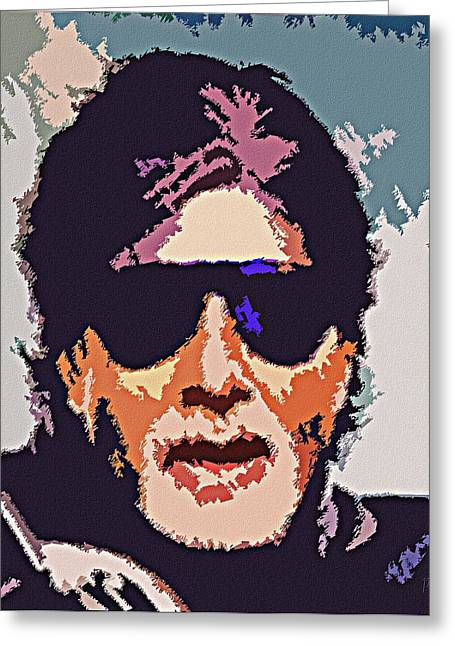 Greatest Of All Time Greeting Cards - Amitabh Bachchan The Superstar Greeting Card by Piety Dsilva