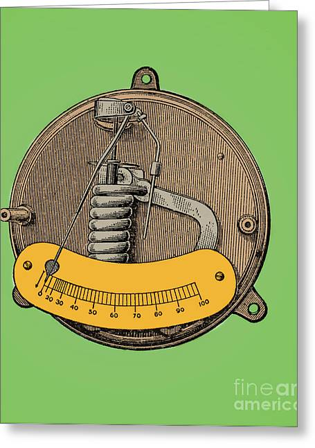 Electrical Meter Greeting Cards - Ammeter Greeting Card by Science Source