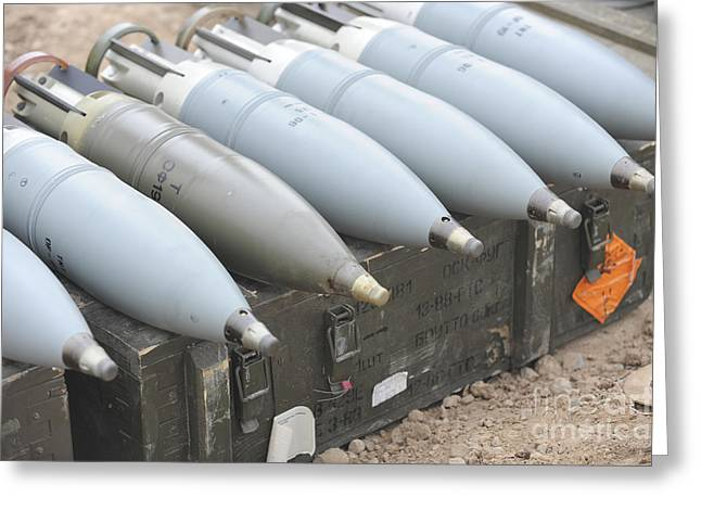 Iraqi Army Greeting Cards - Ammunition For Iraqi T-72 Tanks Greeting Card by Stocktrek Images