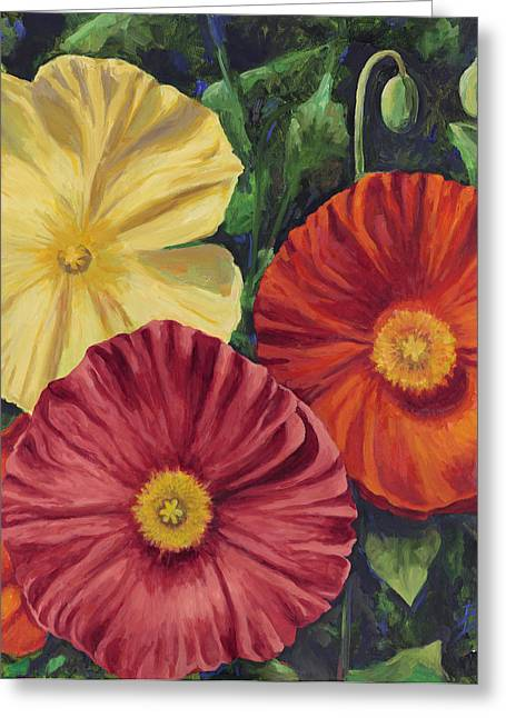 California Orange Poppy. Yellow Poppy Greeting Cards - Among Friends Greeting Card by Billie Colson