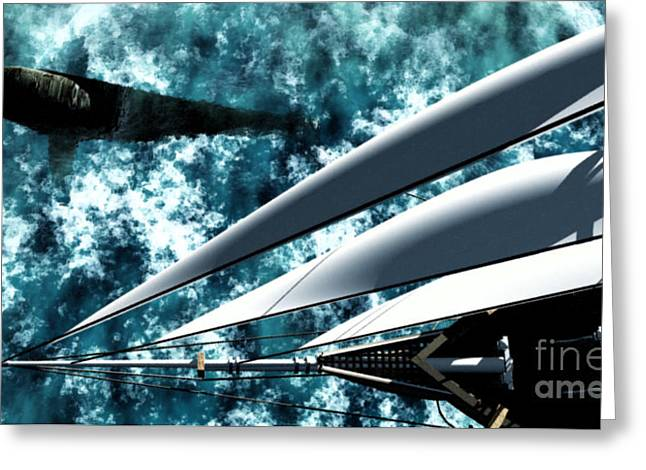 Ocean Images Digital Art Greeting Cards - Among Giants Greeting Card by Richard Rizzo