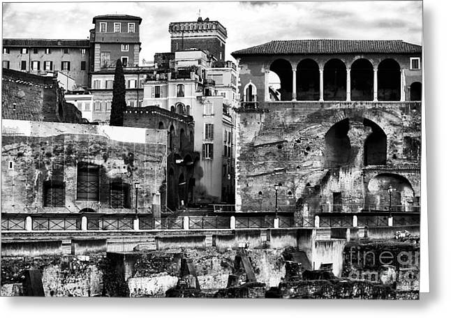White Decor Posters Greeting Cards - Among the Ruins Greeting Card by John Rizzuto
