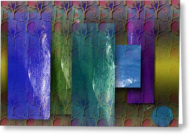 Abstract Art For Sale Digital Art Greeting Cards - Among The Trees Greeting Card by Ruth Palmer