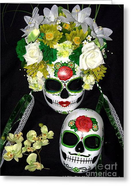 Dead Sculptures Greeting Cards - Amor Eterno Greeting Card by Mitza Hurst