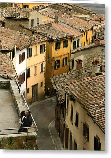 Fidelity Greeting Cards - Amore in Cortona Greeting Card by Al Hurley