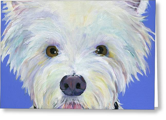 Commission Work Greeting Cards - Amos Greeting Card by Pat Saunders-White