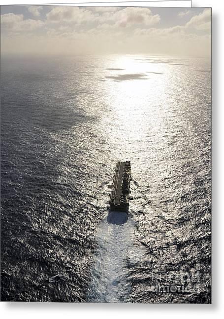 Amphibious Assault Ship Uss Boxer Greeting Card by Stocktrek Images