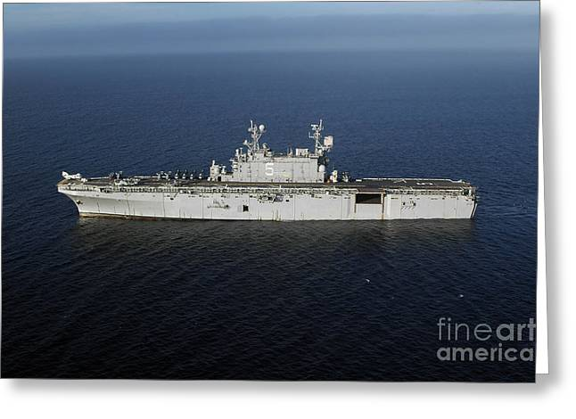 Clemente Greeting Cards - Amphibious Assault Ship Uss Peleliu Greeting Card by Stocktrek Images