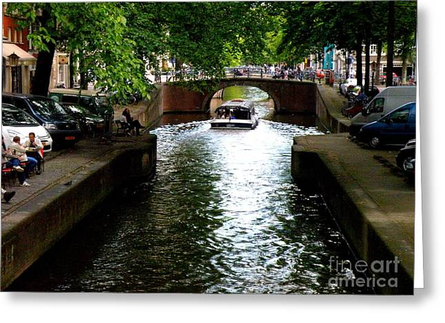 Lainie Wrightson Greeting Cards - Amsterdam by Boat Greeting Card by Lainie Wrightson