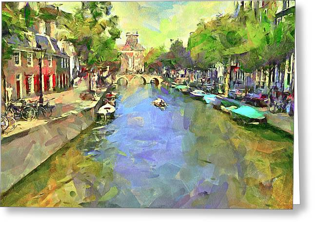 Drug House Greeting Cards - Amsterdam Canals 2 Greeting Card by Yury Malkov