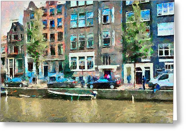 Drug House Greeting Cards - Amsterdam Canals Greeting Card by Yury Malkov