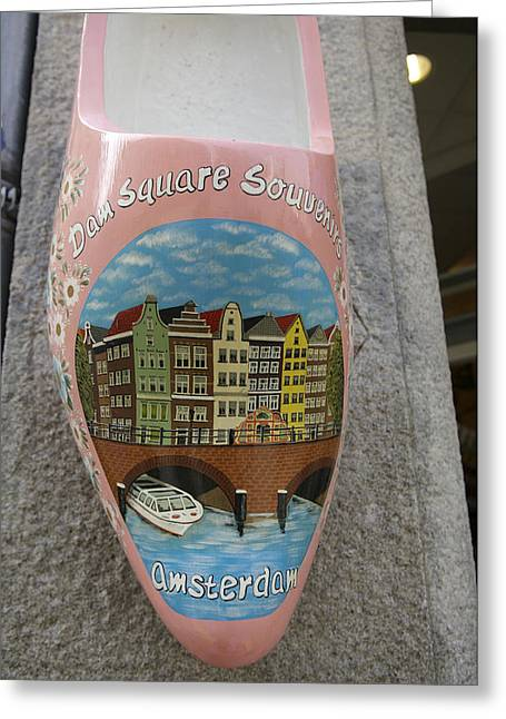 Dutch Culture Greeting Cards - Amsterdam, Holland, Europe- Wooden Pink Greeting Card by Keenpress