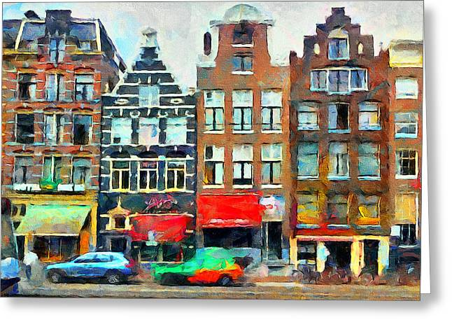 Drug House Greeting Cards - Amsterdam Streets 1 Greeting Card by Yury Malkov