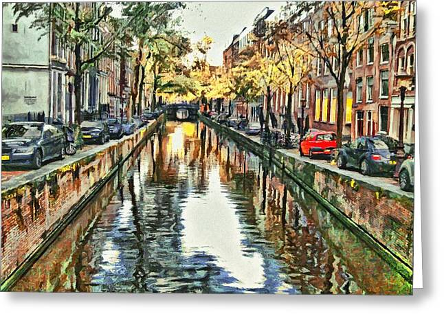 Drug House Greeting Cards - Amsterdam Tour  The Fall Greeting Card by Yury Malkov